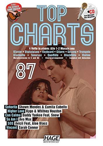 Top Charts 87 (mit CD + Midifiles, USB-Stick): Die aktuellsten Hits der erfolgreichsten Stars und das Beste aus den Charts!