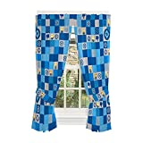Universal Despicable Me 3 Minions Kids Room Window Curtain Panels with Tie Backs, 82' x 63', Blue