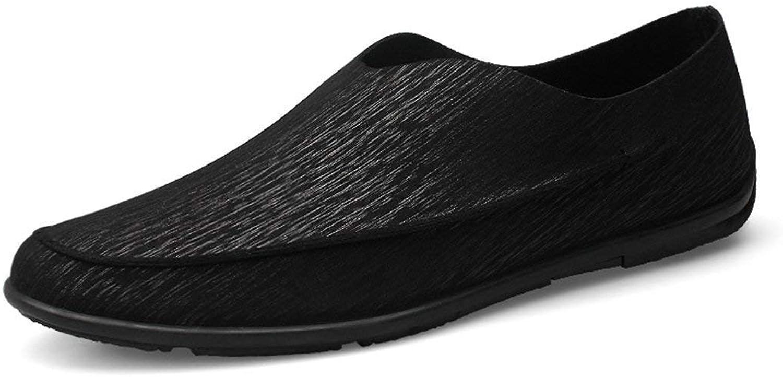 ZHRUI Boy's Men's Soft Slip-on Round Toe Black Casual Spring Loafers UK 6 (color   -, Size   -)