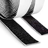 FrogJim Cinta de Gancho y vellón autoadhesiva con cinta adhesiva especial, negro, 20mm de ancho,...
