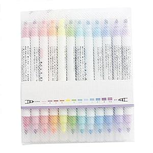 LeKing 12 colores Conjunto de resaltador, estudiante con marcador de doble cabeza, marcador decorativo,sharpie,boligrafos bic,boligrafo bic