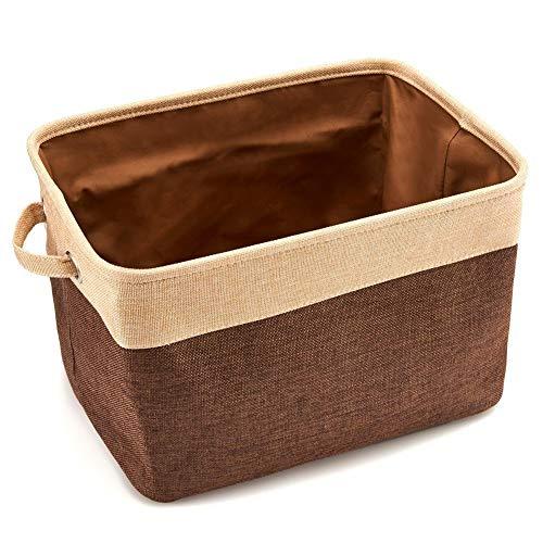Hey shop Caja de almacenamiento de tela, cesta de almacenamiento grande con estante, ropa, juguetes