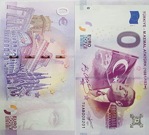 0-Euro-Schein Kemal Atatürk Türkei Null Euro € Souvenirschein (2019-1) Sammler Banknote