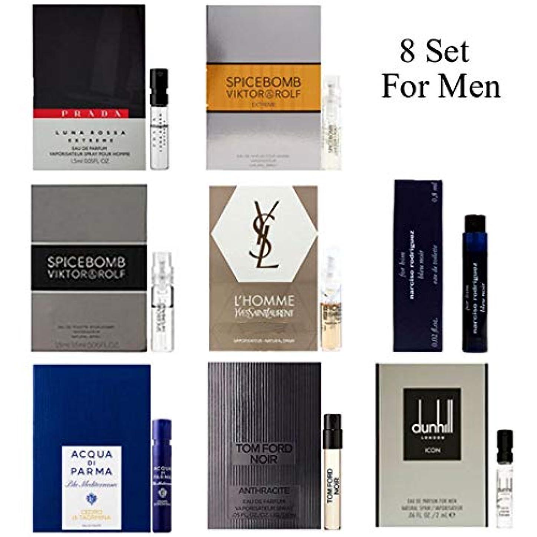 薄い後悔写真を撮る男性用 Eau de Parfum (Eau de Toilette) For Men Samples 8/set [海外直送品] [並行輸入品]v
