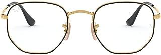 RX6448 Round Metal Eyeglass Frames, Top Black On...