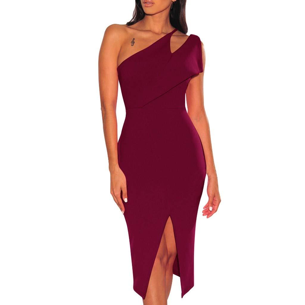 Available at Amazon: Mikilon Women Dress Mikilon Women's Cutout One Split Midi Party Bodycon Dress