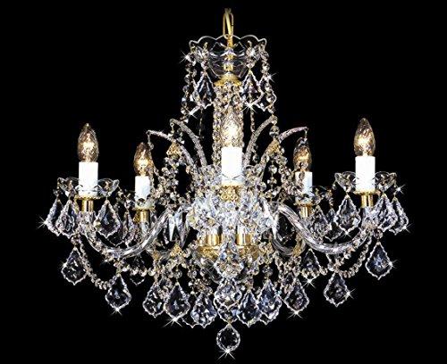 Lámpara de araña de cristal de Swarovski.
