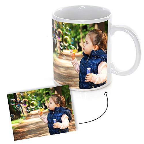PROMO SHOP Taza Personalizada con Foto o Imagen Que desees (Personaliza tu Idea) · Tazas Personalizadas a Todo Color (360º Alrededor de la Taza) Originales · Taza Blanca Ceramica 350ml