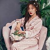 Pajamas Nightwear Women Pajamas Home Suit Pyjama Satin Lounge Set Polka Dot Pijamas Sleepwear M Pink2