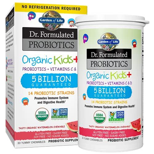 Garden Of Life Dr. Formulated Probiotics - Organic Kids + 5 Billion Watermelon 30 chews