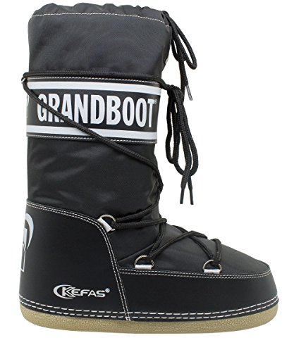 Kefas Grandboot  Doposci Boot Uomo Donna Bambino Nero Taglia 35/37