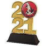 Trophy Monster Trofeo de artes marciales mixtas MMA 2021, 85 mm, oro, plata o bronce, hecho de acrílico impreso, elegir entre 4 tamaños