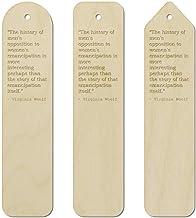 3 x Women Quote by Virginia Woolf Birch Bookmarks (BK00003015)