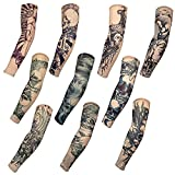 HaimoBurg 10 Stück Skelett Temporäre Gefälschte Slip Tattoo Tattooärmel Arm Strümpfe