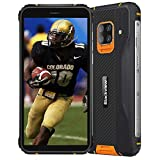 Blackview BV5100 (2020) Smartphones 4G Resistentes IP68 Android 10, 4GB + 128GB, cámara HDR de 16MP + 13MP, Carga inalámbrica, teléfono Celular Desbloqueado, 5.7 '' HD +, NFC FM Compass Naranja