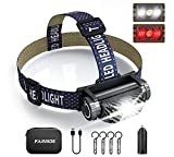 FARRIDE Rechargeable Headlamp, 1200 Lumen Ultra Bright LED Headlamp with Motion Sensor, COB 2 in 1...