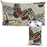 Niñas Mariposa Hada con flores Toalla de microfibra Toalla de yoga de microfibra de viaje...