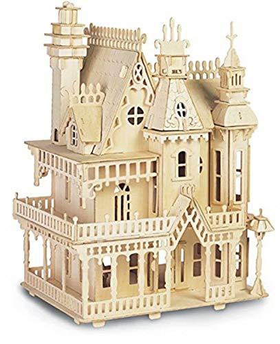 LEMOGO Hölzernes Modell Simulation 3D Puzzle Spielzeug Montage Handbuch Villa für Kinder und Erwachsene