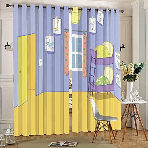 DONEECKL Cortinas insonorizadas para ventana de privacidad, cerdo rosa para cortinas de ventana, cenefas de 150 x 163 cm, ojales en la parte superior