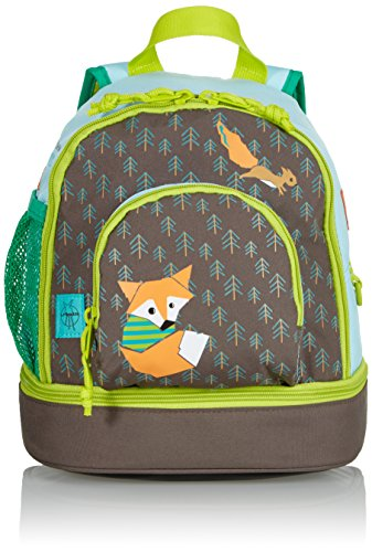 LÄSSIG Kinder Mini Rucksack mit Brustgurt, 3,5L , Braun (Little Tree Fox)