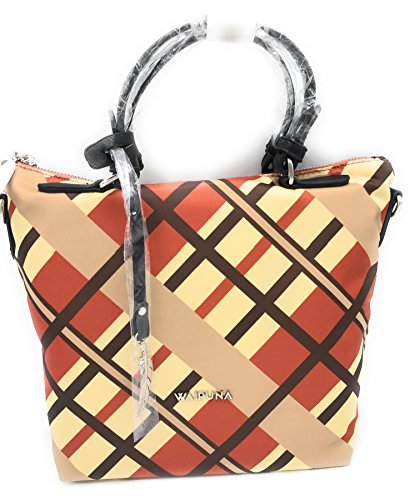 Waipuna Cityshopper Kanalana klein Damen Handtasche Tasche Schultertasche (orange - braun)