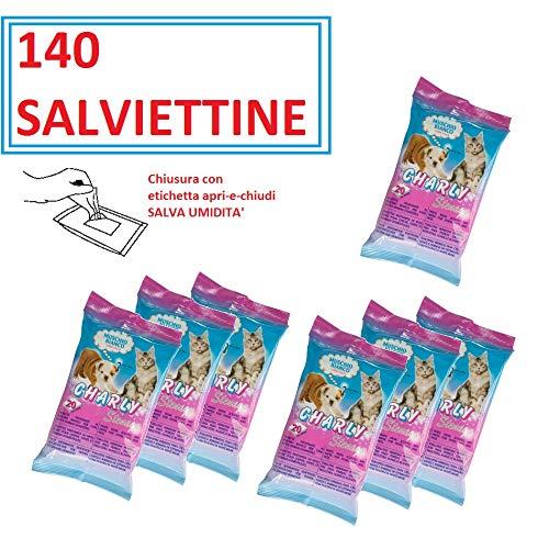 BPS PET SHOP SALVIETTINE per Cani E Gatti, 140 SALVIETTINE Profumo Muschio Bianco,...