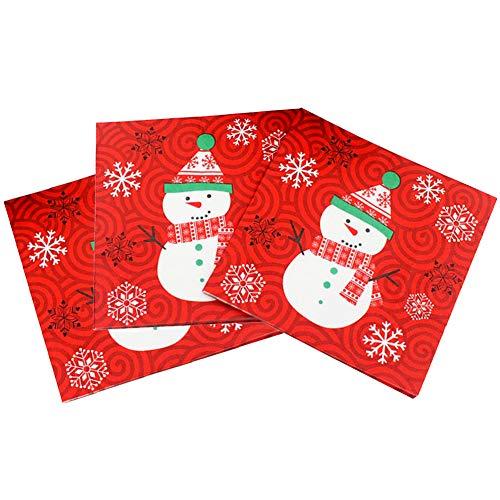 60 Tovaglioli Carta Natale Tovaglioli Monouso Colorati Decorazione della Tavola Natalizie Accessori...