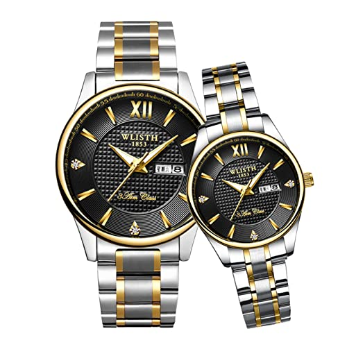GDHJ Men and Women Wrist Watches His and Her Couple Fashion Business Couple Watch...