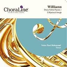 Vaughan Williams Dona Nobis Pacem / Five Mystical Songs TENOR Rehearsal CD