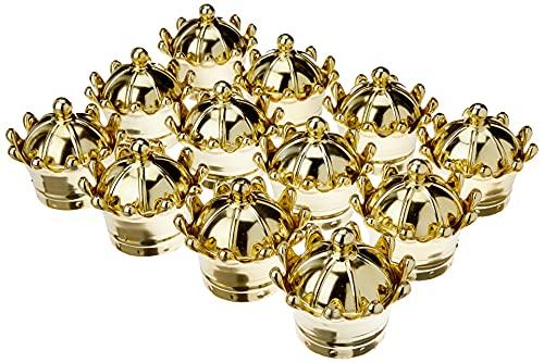Kit Com 12 Coroas Douradas Lembrancinha Cúpula Decoração Dourado
