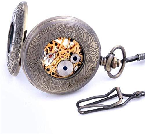 XUHRA Reloj De Reloj Hueco Tallado por Los Antiguos Alumnos Bulova Shanghai Mecánica Collar De Bolsillo