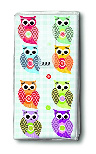 2X 10 Taschentücher Funny Owls – Witzige Eulen/Eule/Motivtaschentücher