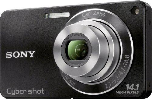 Sony DSC-W350B Digitalkamera (14 Megapixel, 4-fach opt. Zoom, 26 mm Weitwinkelobjektiv, 6,9 cm (2,7 Zoll) Display, bildstabilisiert) schwarz