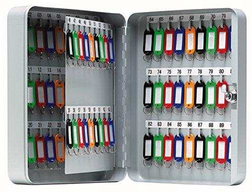 Arregui PLL90 Armario para 80 Llaves Fijo, de Acero, Gris Claro, 24 x 30 x 8 cm