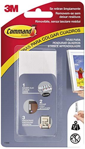 Command 17206 - Pack de 8 tiras para cuadros (grandes, hasta 7.2 kg), color...