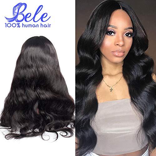 BELE extension des cheveux humains Lace Frontales Perruques pour Femme body wave 10
