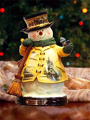 5D Diamond Painting Christmas Snowman Ful Round Drill Diamond Embroidery Landscape Santa Claus Rhinestone Kit Wall Art A5 45x60cm