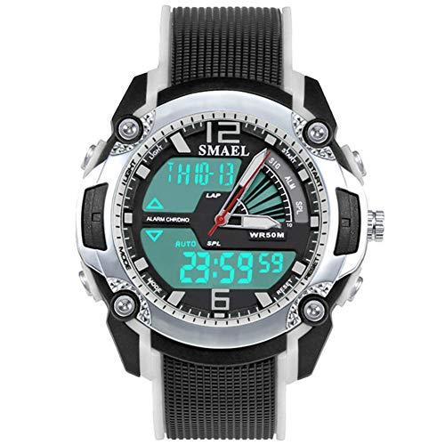 Kinderen kijken XYDBB Mode Kinderen Sporthorloges Led horloge Digitale multifunctionele klok voor meisjesjongen Zoals afgebeeld4 Zwart Wit