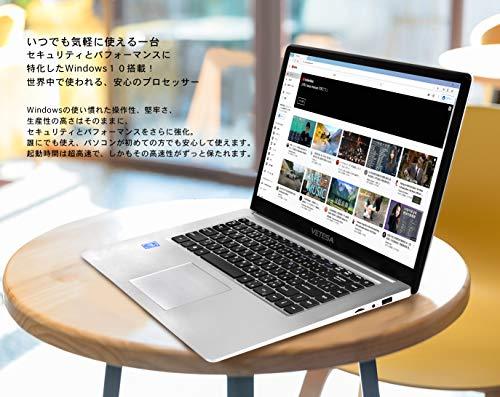 VETESA2020年秋モデルパソコン初心者向け超高性能CPUインテルN3350/E8000外付けDVD付属/【Win10搭載】【MSOffice搭載】/1.6GHz/メモリー:4GB/SSD64GB/15.6インチフルHD液晶/Webカメラ/無線搭載/軽量薄型新品ノートパソコン(SSD:128GB)