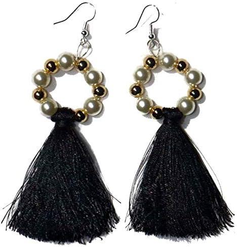 Bohemian Tassel Earrings Fashion Jewelry Beaded Hoop Dangle Drop Women Girls