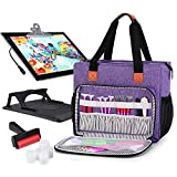 Luxja Carrying Case for A4 Light Pad and Diamond Painting Accessories, Storage Bag for Diamond Painting Tools and Light Box (Fits for A4 Light Pad), Purple (Bag Only)