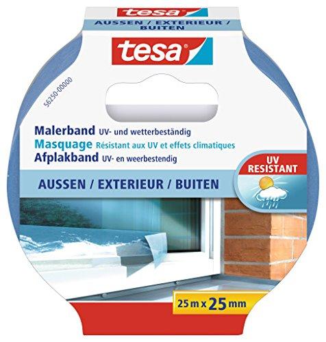 tesa 56250–00002–00Präzision Masker Klebeband für den Außenbereich, blau, 25m x 25mm