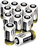 【Specifiche】 Tensione: 3V, Capacità: 1600mAh, Tipo: Batterie Monouso, Quantità: 12 pezzi, NESSUN caricabatterie può essere utilizzato per caricare Keenstone batterie CR123A, che possono causare esplosioni o incendi. 【Compatibilità】 Sostituzione per b...