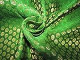 TheFabricFactory Brokatstoff Grün x Metallic Gold Farbe