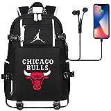 DDDWWW Mochila Deportiva Multifuncional Baloncesto Hombres Schoolbag Travel Rucksack Chicago Bulls No. 23 Michael Jordan L (#01)