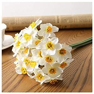 DFGDSF Artificial Daffodils Flower Living Room Home Window Decor Fake Flowers Wedding Scene Decor