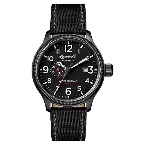 Ingersoll Men's The Apsley Automatic Watch with Black Dial and Black Other Strap I02801