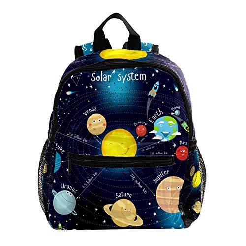 Mochila de Ocio Planeta Galaxy Azul Mochilas de Colores para niños pequeños...