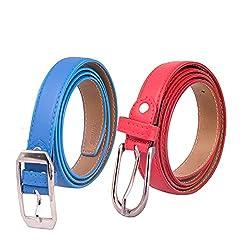 Amicraft Ladies Belt Combo - LBC 08 (BLUE-RED)