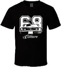 CarGeekTees.com 1968 Camaro Grill View Year Model Dark Shirt